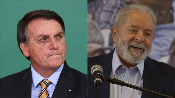 Jair Bolsonaro tiene como mayor oponente al ex presidente Lula da Silva, quien está como favorito a las presidenciales.