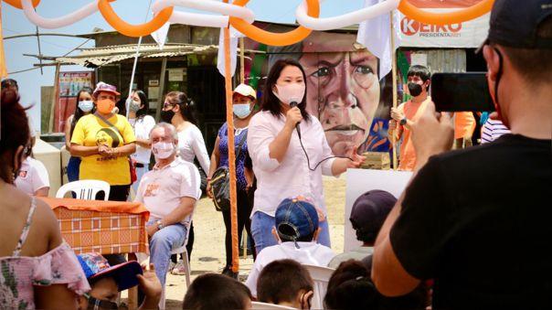Keiko Fujimori disputa la segunda vuelta con Pedro Castillo.