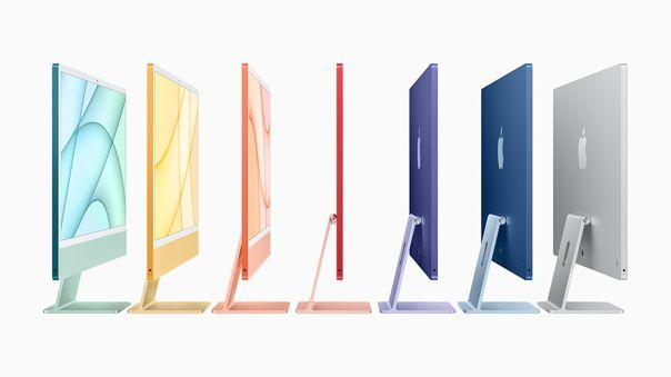 Las nuevas iMac llegan en siete colores.