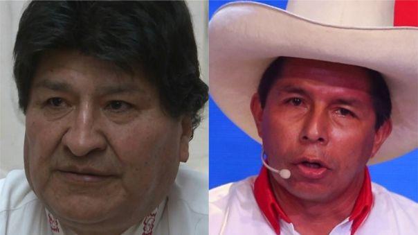 Evo Morales respalda la candidatura de Pedro Castillo.