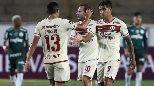 Enzo Gutiérrez anotó un doblete ante Palmeiras