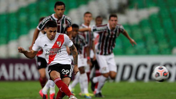 Gonzalo Montiel anotó un nuevo gol para River Plate.
