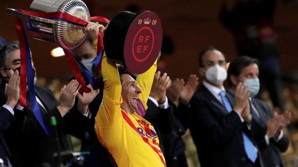 Lionel Messi viene de ganar la Copa del Rey frente al Athletic Club.