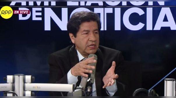 Miguel Palacios, decano del Colegio Médico del Perú.
