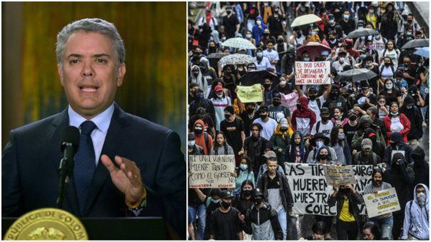 Colombia: Iván Duque anuncia revisión de reforma tributaria tras masivas  protestas | RPP Noticias
