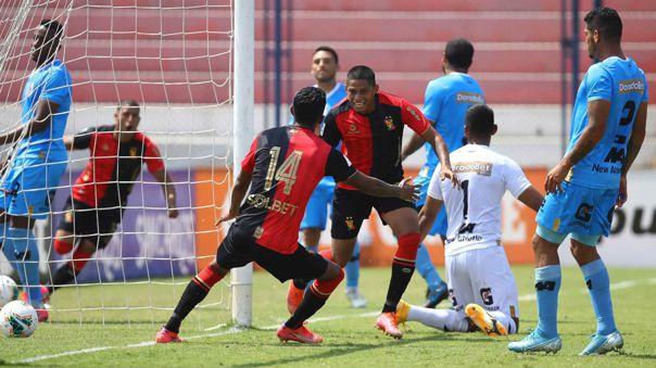 Así celebró Kevin Quevedo su gol en el Melgar vs. Binacional.