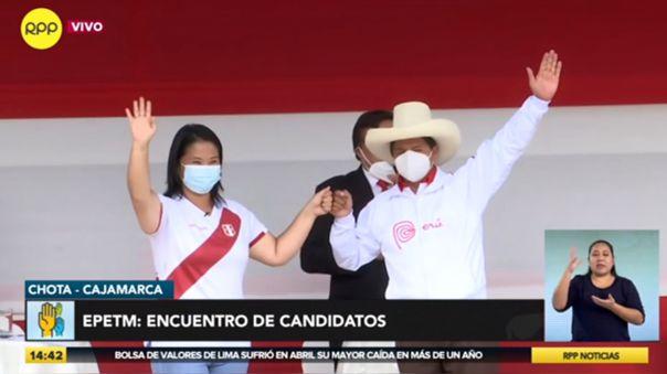 Keiko Fujimori y Pedro Castillo debatieron en Chota.