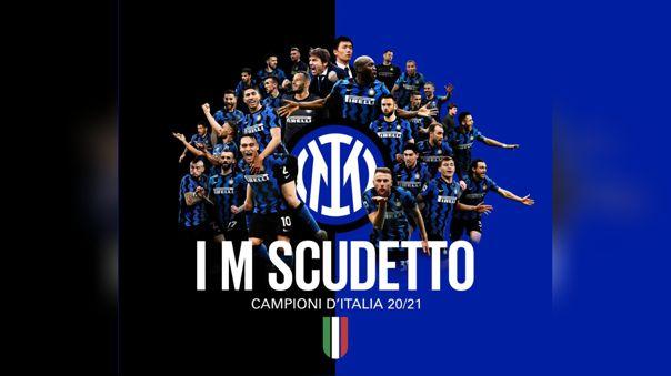 Inter de Milán campeón de la Serie A de Italia