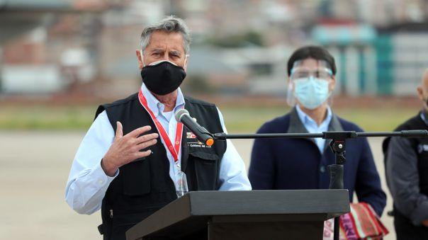 Francisco Sagasti habló sobre la vacunación en el país.