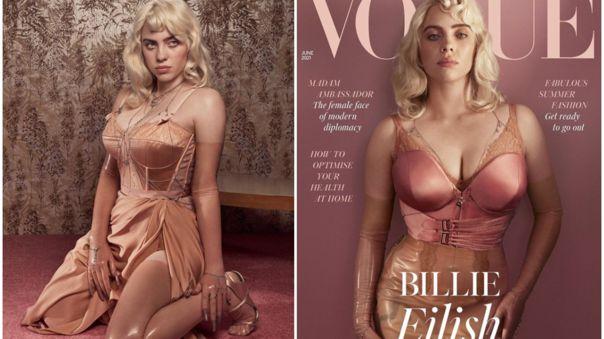 Billie Eilish sorprende con nuevo look en la portada de Vogue