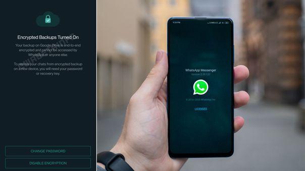 Los backups de WhatsApp cada vez más protegidos.