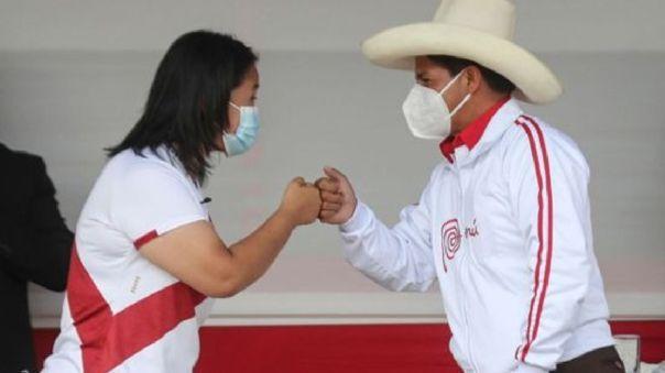Los candidatos Pedro Castillo y Keiko Fujimori descentralizaron el debate político a la ciudad de Chota, en Cajamarca, en marco de la segunda vuelta 2021.
