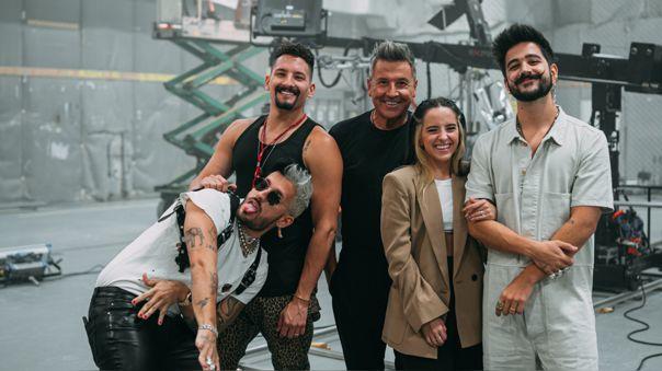 Camilo, Evaluna, Ricardo Montaner, Marlene Rodríguez y Mau y Ricky
