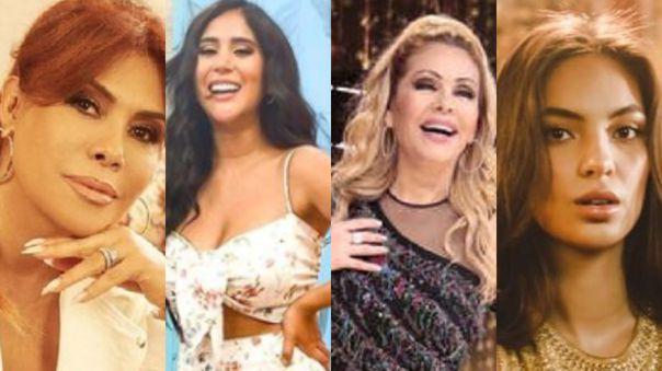 Magaly Medina, Melissa Paredes, Gisela Valcárcel, Natalie Vértiz