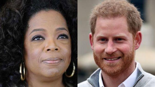 Oprah Winfrey y el príncipe Harry