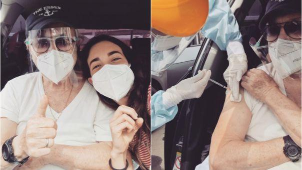 """Luis Ángel Pinasco recibió la segunda dosis de la vacuna contra la COVID-19: """"Hay 'Rulito' para rato'"""""""