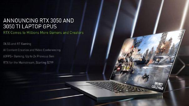 Las laptops con RTX 3050 y RTX 3050 Ti llegan al mercado.