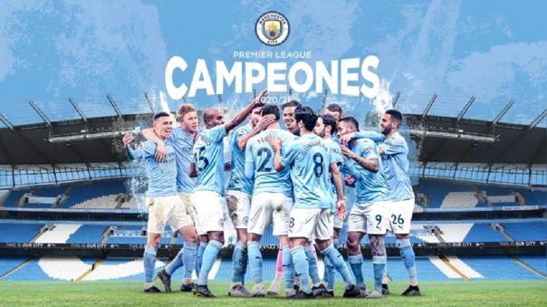 Manchester City se proclamó campeón de la Premier League 2020-2021