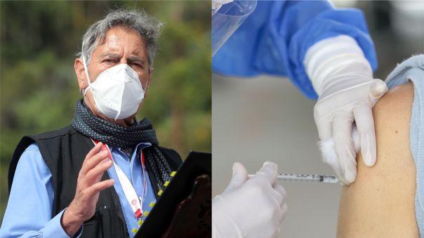 Francisco Sagasti habló sobre las denuncias de jeringas vacías durante la campaña de vacunación.