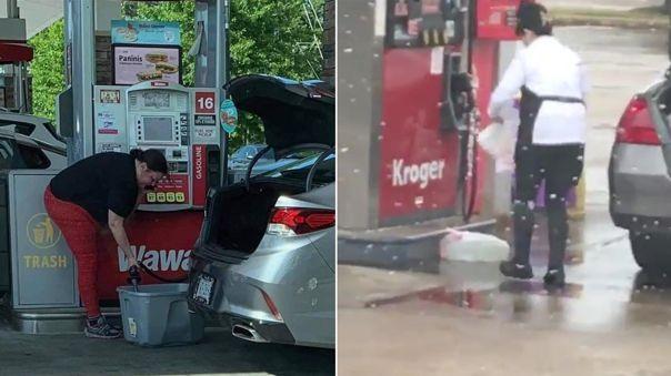 La escasez de gasolina provoca estas situaciones.