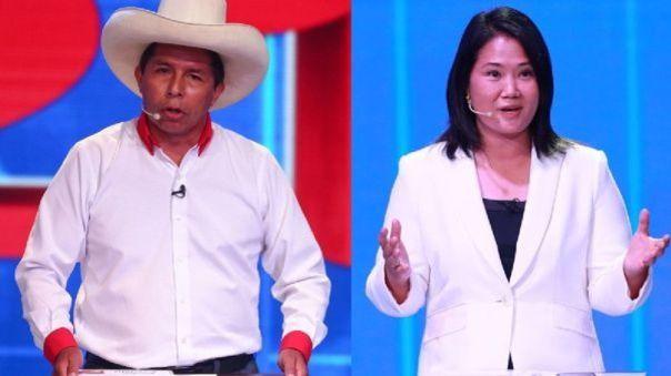 Pedro Castillo y Keiko Fujimori participarán de dos debates por el JNE.