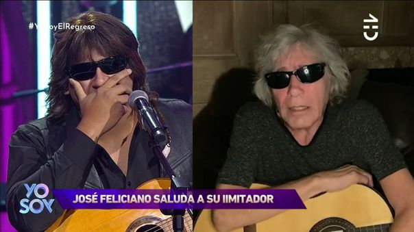 Yo Soy Chile: Imitador peruano de José Feliciano se conmueve al escuchar un saludo del original