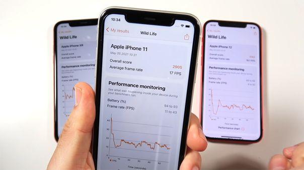 El iPhone XR gana en rendimiento a los iPhone 11 y iPhone 12.