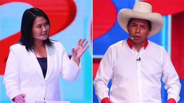 Keiko Fujimori y Pedro Castillo tendrán un debate presidencial oficial.
