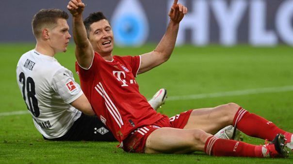 Robert Lewandowski llegó al Bayern procedente del Borussia Dortmund.