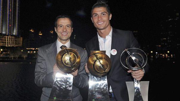 Cristiano Ronaldo y su agente Jorge Mendes