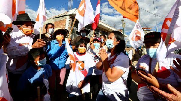 La candidata de Fuerza Popular promete bonos para familias afectadas por la COVID-19.