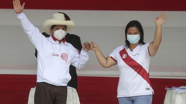 Pedro Castillo y Keiko Fujimori disputan la segunda vuelta.