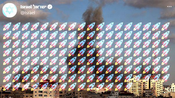 Los cohetes de Israel alcanzaron zonas residenciales.