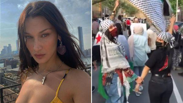 Bella Hadid participó en una marcha para denunciar la violencia contra Palestina