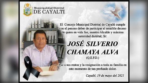 A los 62 años dejó de existir el alcalde de Cayaltí, quien perteneció a las filas de Podemos Perrú
