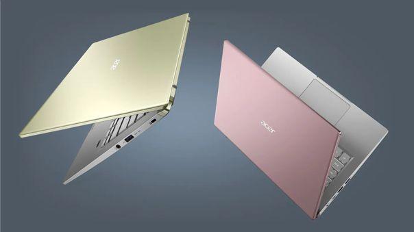 Las laptops Swift X de Acer.