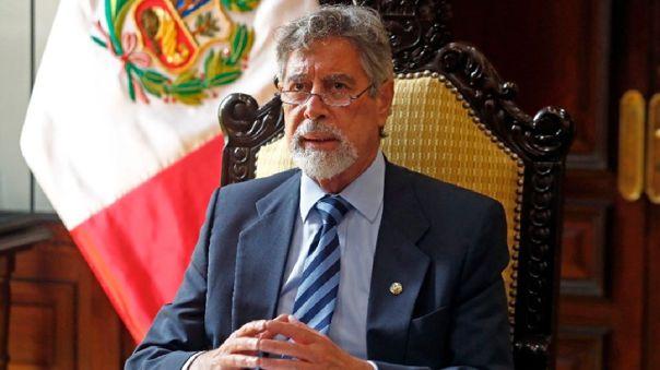 Francisco Sagasti llegó esta mañana a la base Mazamari en Junín.