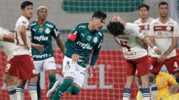 Gustavo Gómez y el gol para 3-0 sobre Universitario.