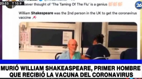 El titulador del canal argentino hizo bien su trabajo.