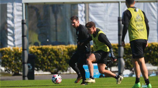 Lionel Messi ya entrena con la Selección de Argentina