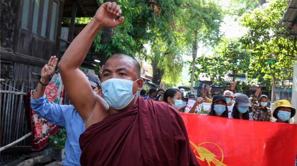 Protesta en Birmania