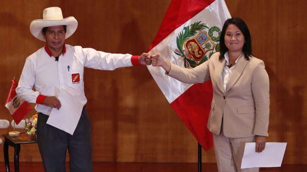 Pedro Castillo lidera la intención de voto a una semana de las elecciones.