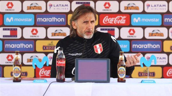 Ricardo Gareca dio conferencia de prensa previo al Perú vs. Colombia