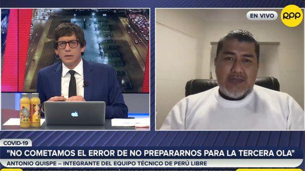 Antonio Quispe-Perú Libre-vacunas