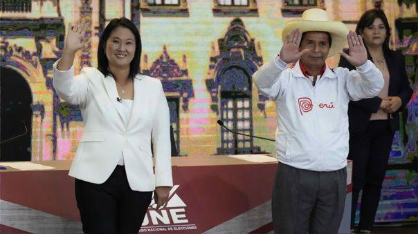 Keiko Fujimori y Pedro Castillo se enfrentan este domingo en la segunda vuelta electoral.