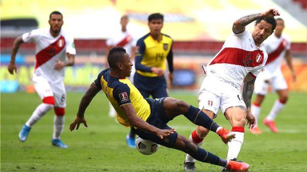 Gianluca Lapadula dio dos asistencias en el triunfo de Perú sobre Ecuador