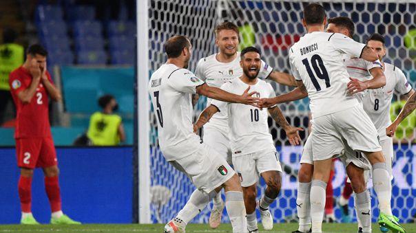 Italia vence a Turquía en el primer partido de la Eurocopa 2021
