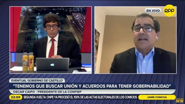 Presidente de Confiep, Óscar Caipo