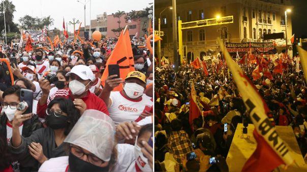 Simpatizantes vienen convocando a marchas mientras esperan los resultados.