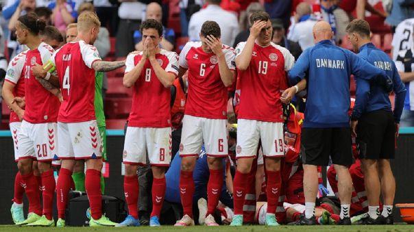 Christian Eriksen se desplomó durante el Dinamarca vs. Finlandia